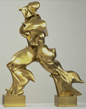 UMBERTO BOCCIONI - Unique Forms of Continuity in Space, 1913.