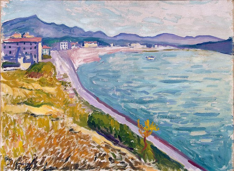 ALBERT MARQUET - VIEW OF SAINT JEAN DE LUZ, 1907.