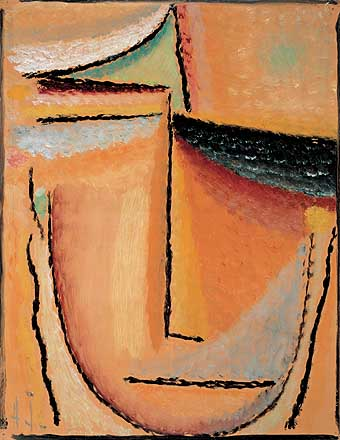 ALEXEJ JAWLENSKY - ABSTRACT HEAD - 1928.