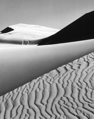 ANSEL ADAMS -  Sunrise, Dunes Death Vallery National Monument, 1948