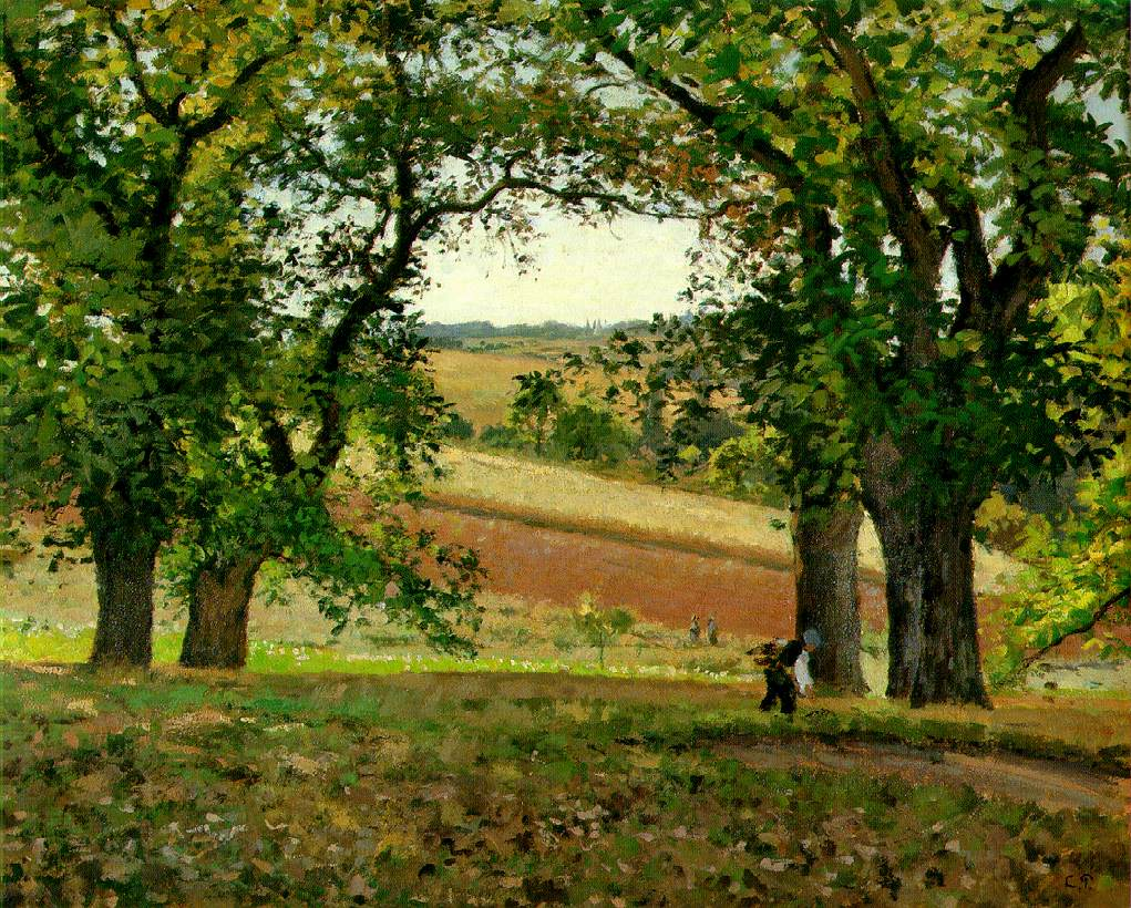 CAMILLE PISSARRO - LES CHATAIGNIERS A OSNY,  1873.