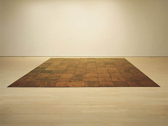 CARL ANDRE - ABSTRACT COPPER SQUARE, 1967.