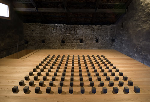 CARL ANDRE - SPATIAL SPECIFICITY, 144 GRAPHITE SILENCE, 2005.