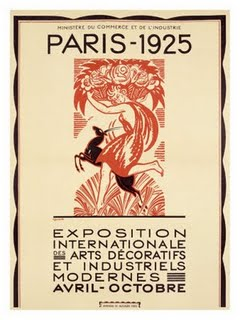 CARTAZ DA FEIRA INTERNACIONAL DE ARTES DECORATIVAS E INDUSTRIAIS DE PARIS - 1925