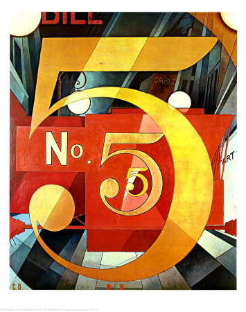 CHARLES DEMUTH - THE FIGURE FIVE IN GOLD, 1928.