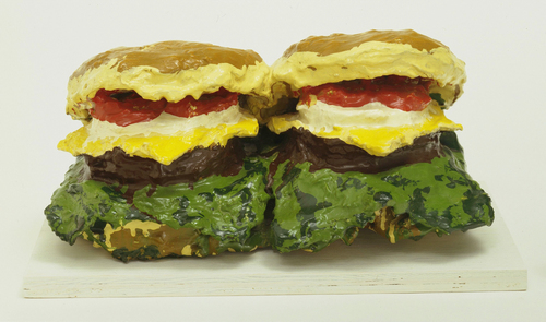 CLAES OLDENBURG - TWO CHEESEBURGES WITH EVERTHIN, 1962.