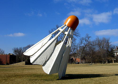 CLAES OLDENBURG AND COOSJE VAN BRUGGEN - SHUTTLECOCKS, 1994.