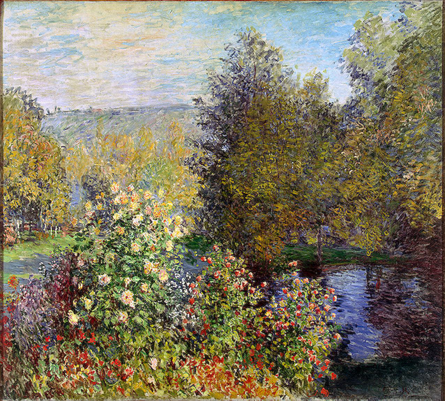 CLAUDE MONET - CORNER OF THE GARDEN AT MONTGERON, 1876.