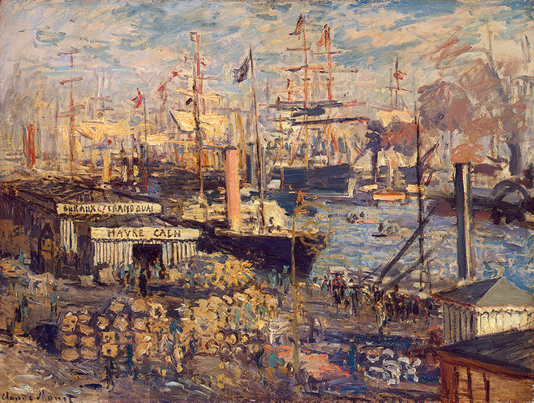 CLAUDE MONET - GRAND QUAI AT HAVRE, 1872.