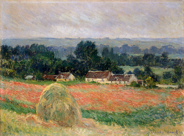 CLAUDE MONET - HAYSTACK AT GIVERNY, 1886.