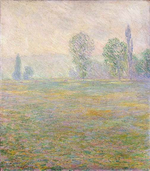 CLAUDE MONET - MEADOWS AT GIVERNY, 1888.