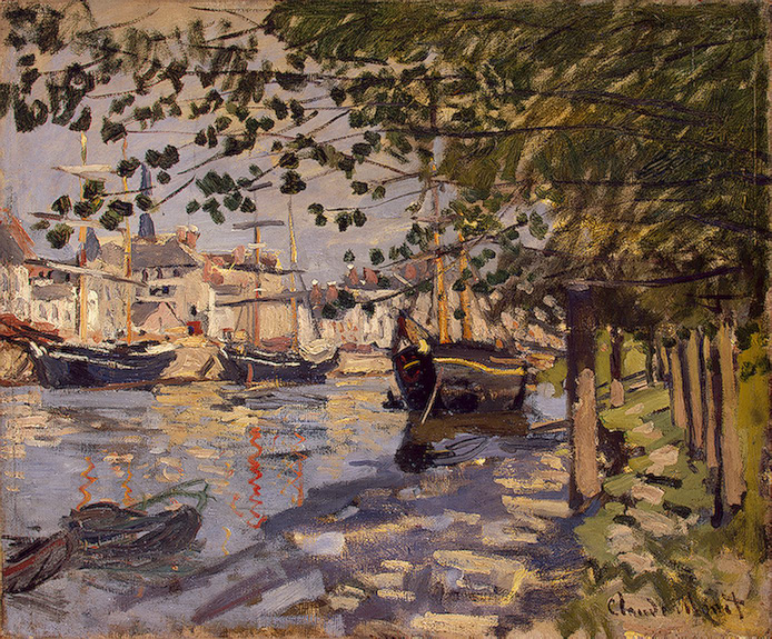 CLAUDE MONET - SEINE AT ROUEN, 1872.