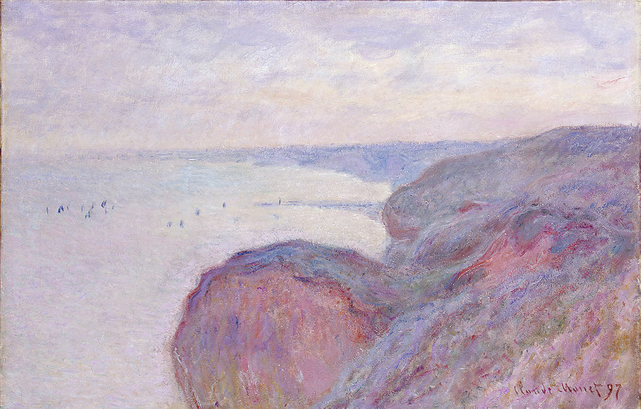 CLAUDE MONET - STEEP CLIFFS NEAR DIEPPE, 1897.