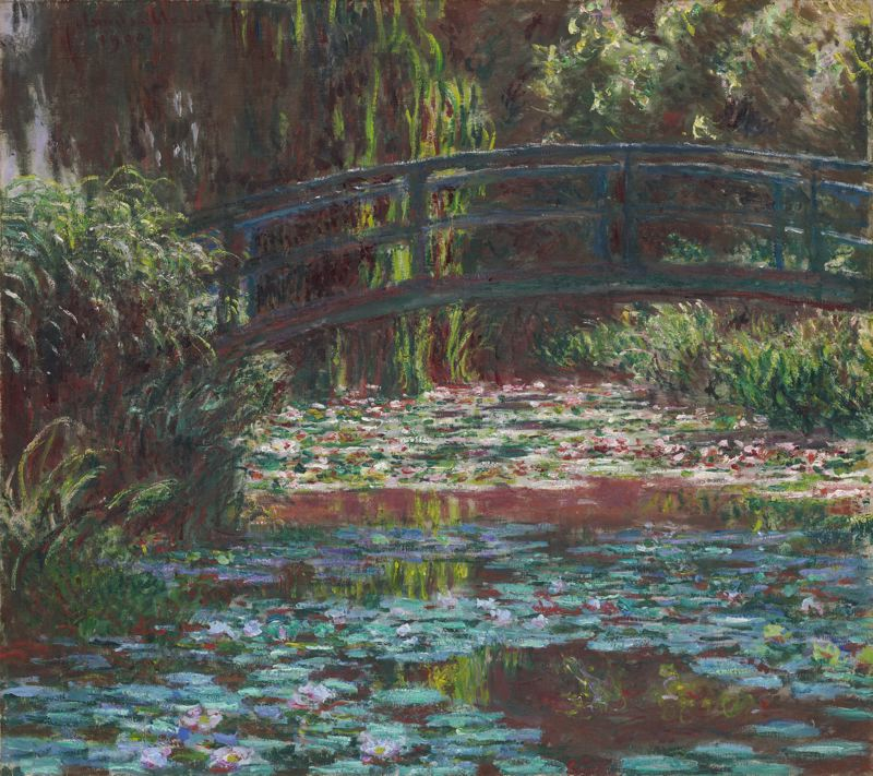 CLAUDE MONET - WATER LILY POOL, 1900.