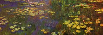 CLAUDE MONET - WATER LILIES, 1920-26.
