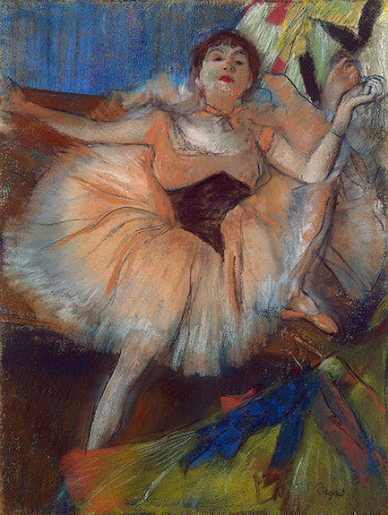 EDGAR DEGAS - Seated Dancer, 1879-80