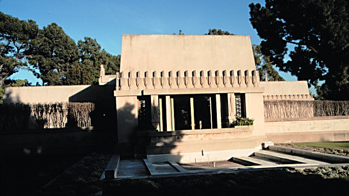 FRANK LLOYD WRIGHT - BARNSDALL HOUSE - LOS ANGELES - 1916.