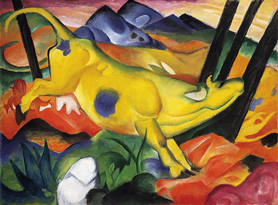 FRANZ MARC - YELLOW COW, 1911.
