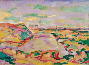GEORGES BRAQUE - LANDSCAPE NEAR ANTWERP, 1906.