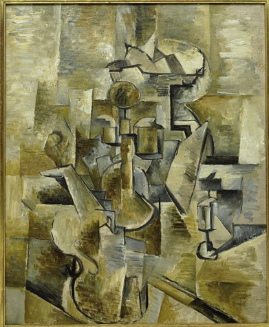 GEORGES BRAQUE -  Violin and Candlestick, 1910