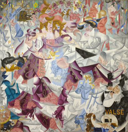 GINO SEVERINI - DYNAMIC HIEROGLYPHIC OF THE BAL TABANN, 1912.