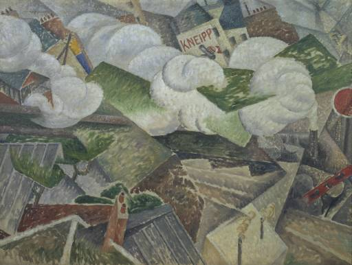 GINO SEVERINI - SUBURBAN TRAIN ARRIVING IN PARIS, 1915.