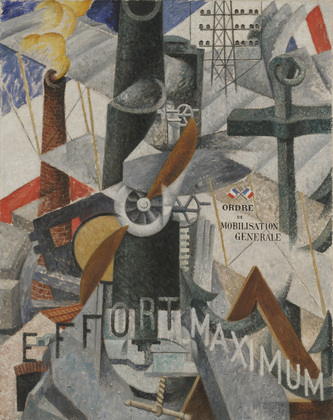 GINO SEVERINI - VISUAL SYNTHESIS OF THE IDEA, WAR, 1914.