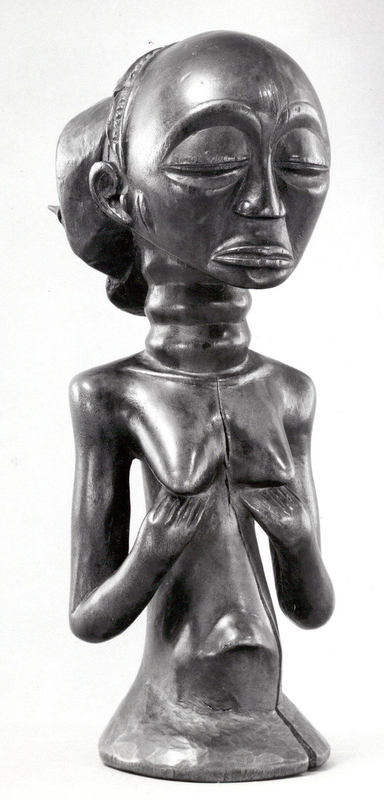 HALF FIGURE - Female, Luba, Congo, 19 - 20th century