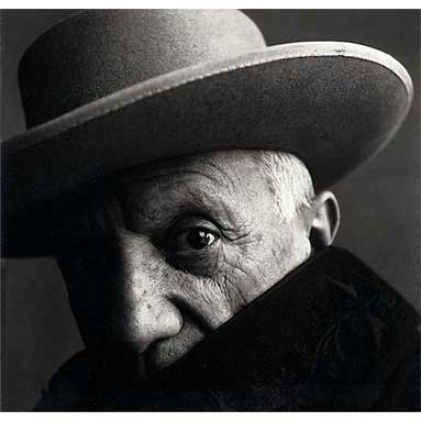 IRVING PENN - PABLO PICASSO, CANNES, 1957.