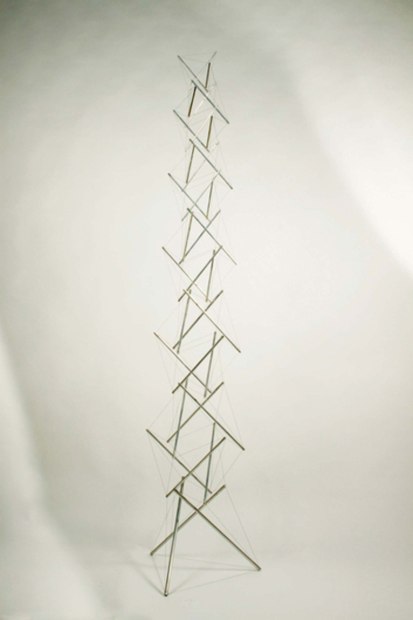 KENNETH SNELSON - E.C.COLUMN 1/4, 1969.
