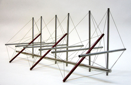 KENNETH SNELSON - THREE REDS, 1966.