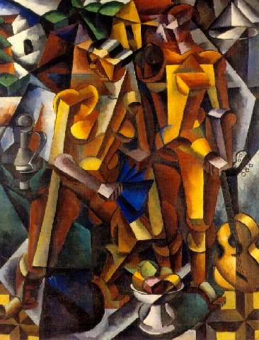 LYUBOV POPOVA - TWO FIGURES, 1913.