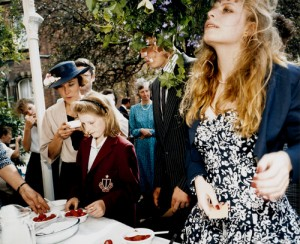 MARTIN PARR - STRAWBERRY TEA, MALVEN GIRL`COLLEGE - 1986-89 - MOMA COLLECTION.