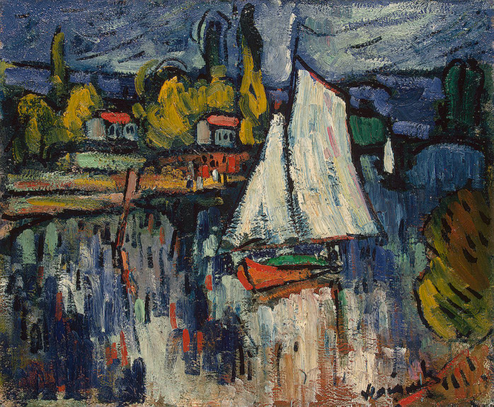 MAURICE DE VLAMINCK - View of the Siene, 1906