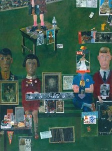PETER BLAKE - ON THE BALCON - 1955-57.