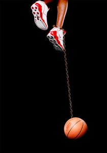 HANK WILLIS THOMAS - BASKETBALL AND CHAIN - 2003.