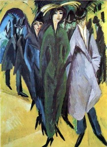 Ernest Ludwig kirchner - Women in the streets - 1915
